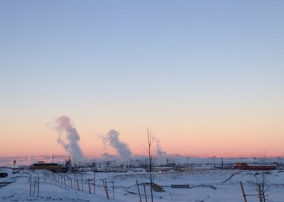 Refinery in winter