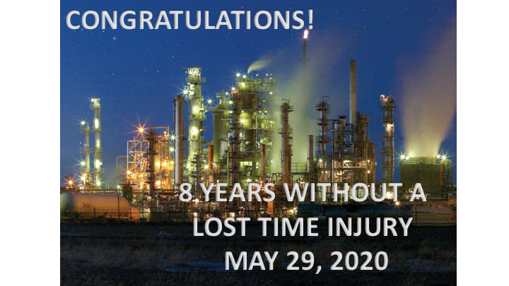 8 Years Without A Lost Time Injury