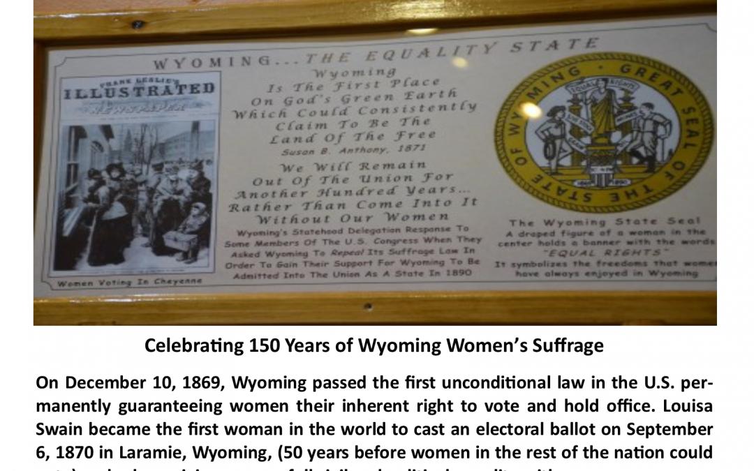 Celebrating 150 Years of Wyoming Women's Suffrage!