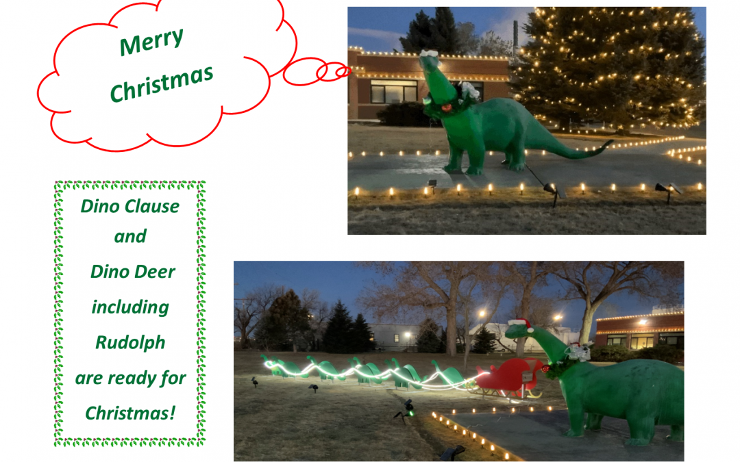 Dino Claus & Dino Deer are ready for Christmas!