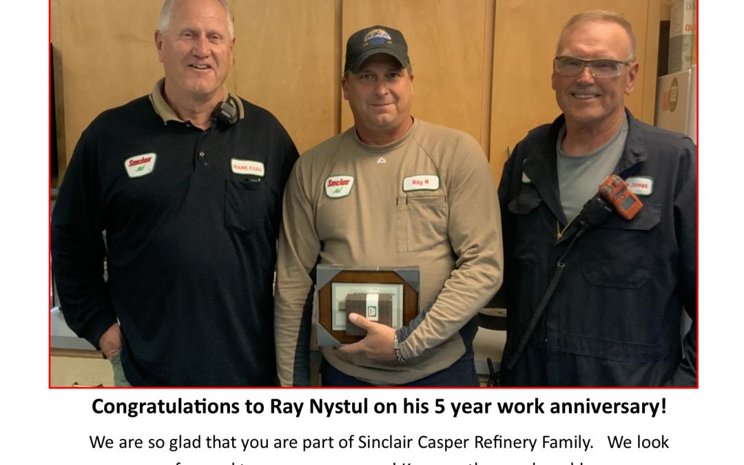 Congratulations to Ray Nystul!