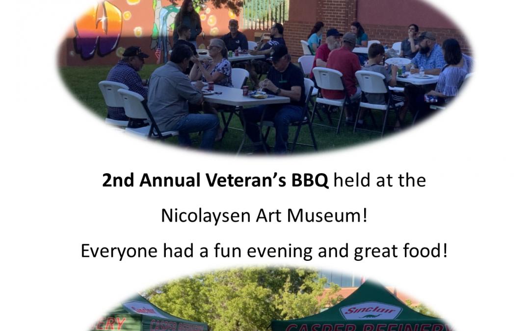 Veteran's BBQ at the Nicolaysen!