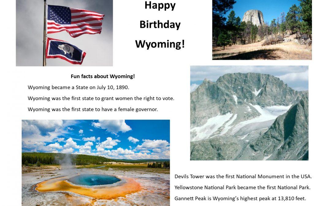 Happy birthday Wyoming!