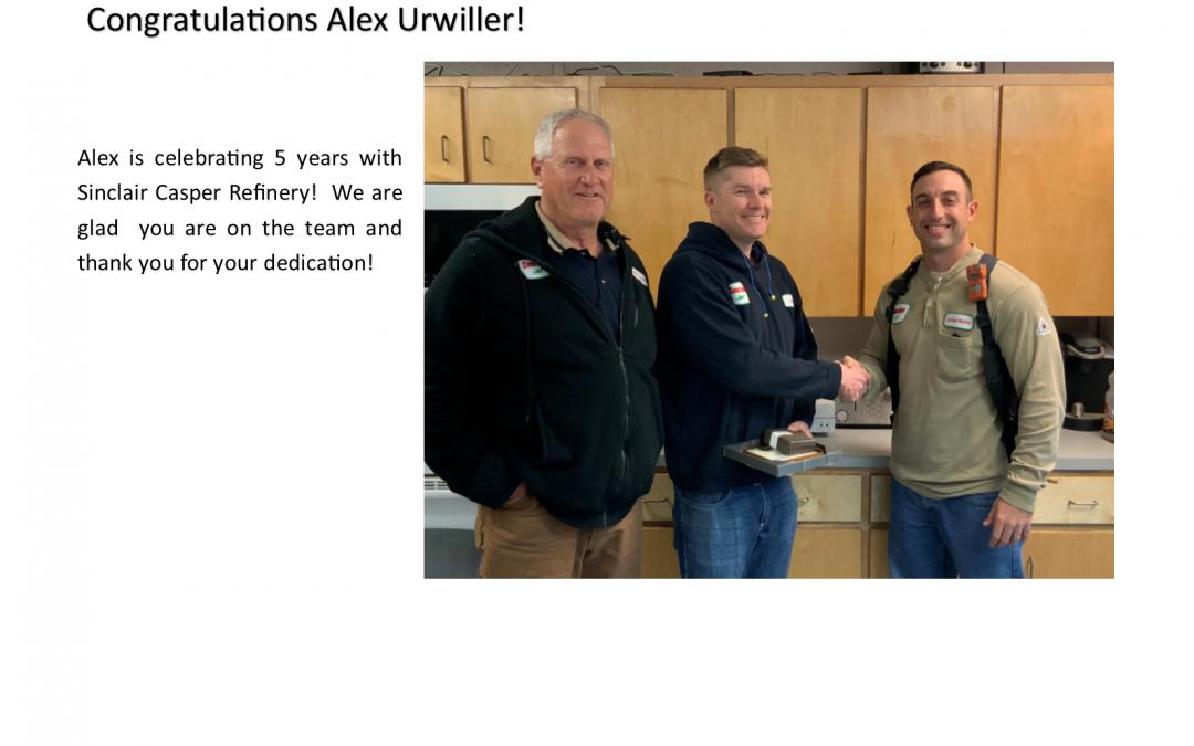 Congratulations to Alex Urwiller!